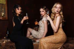 three, women, fashion