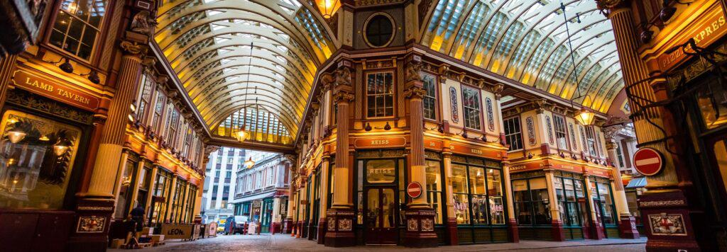 Leadenhall Market in London, United Kingdom