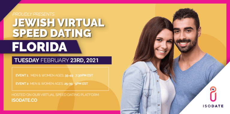 Isodate's Florida Jewish Virtual Speed Dating