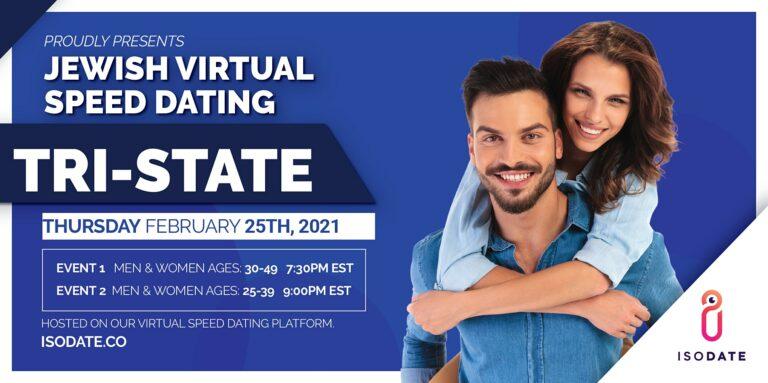 Isodate's Tri State Jewish Virtual Speed Dating