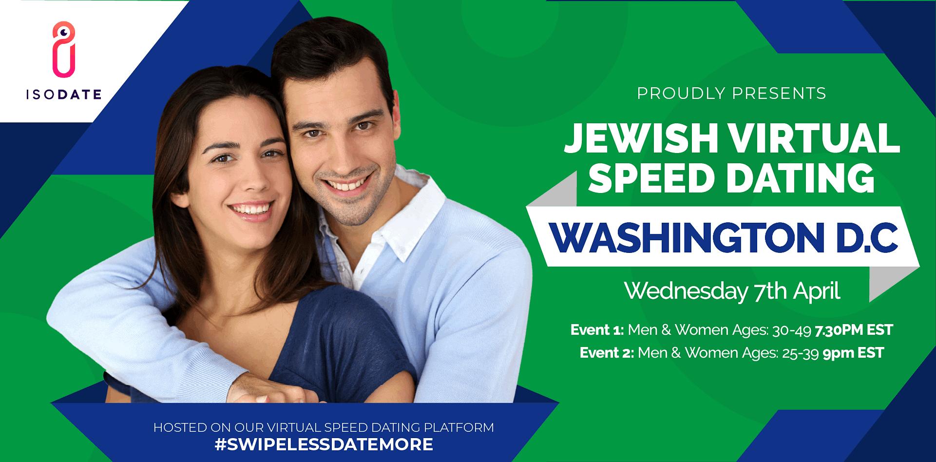 Isodate's Washington DC Jewish Virtual Speed Dating - Swipe Less, Date More