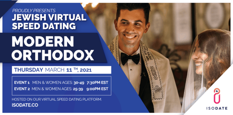 Isodate's Modern Orthodox Jewish Virtual Speed Dating