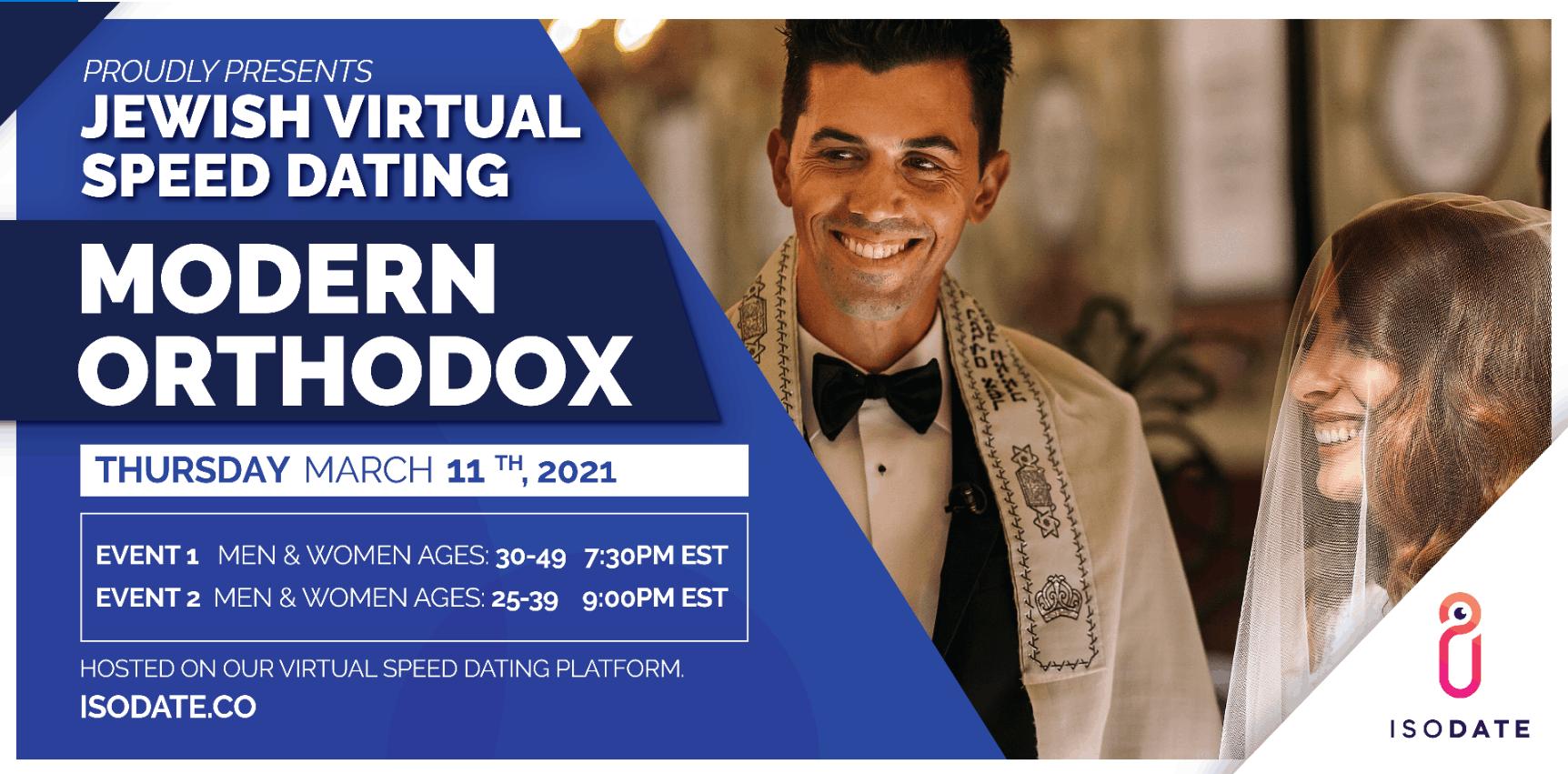 Isodate's Modern Orthodox Jewish Virtual Speed Dating