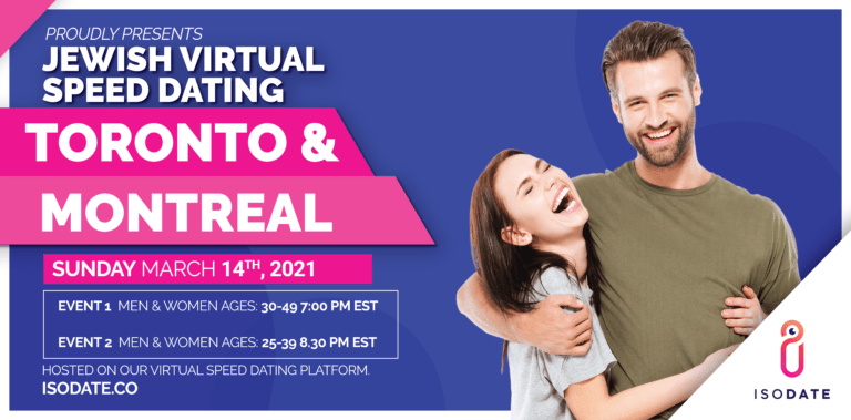 Isodate's Toronto & Montreal Jewish Virtual Speed Dating