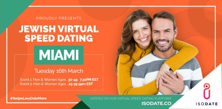 Isodate's Miami Jewish Virtual Speed Dating – Swipe Less, Date More