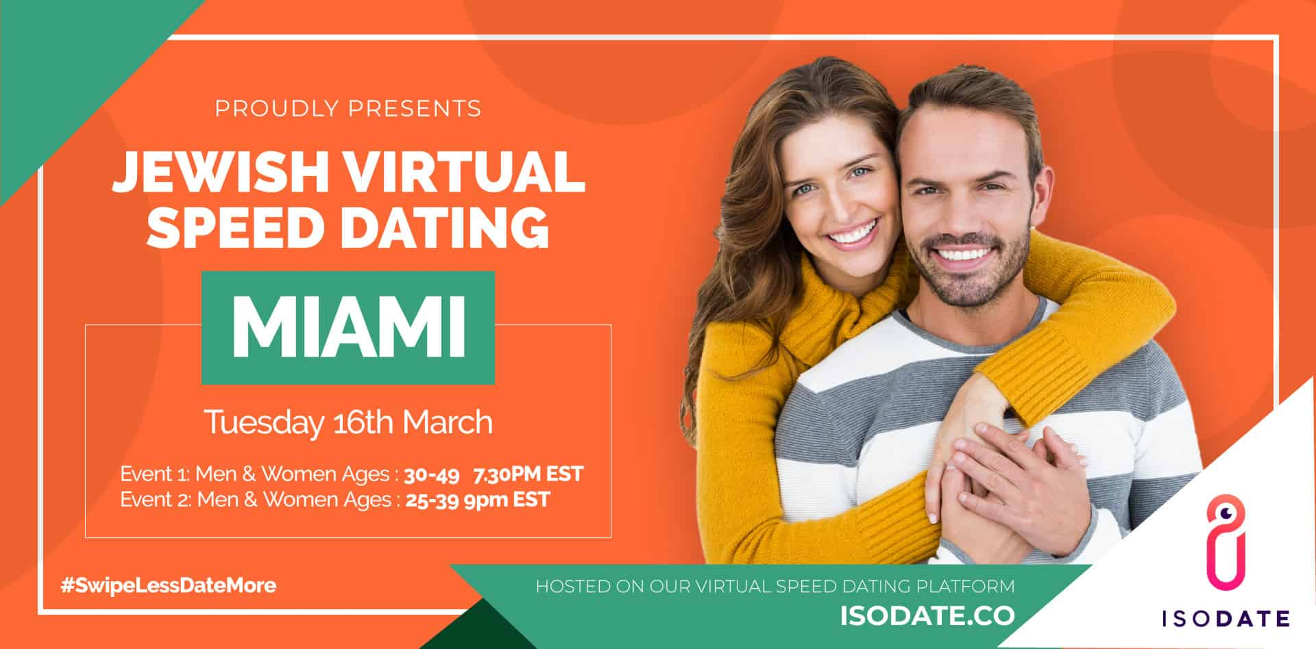 Isodate's Miami Jewish Virtual Speed Dating - Swipe Less, Date More