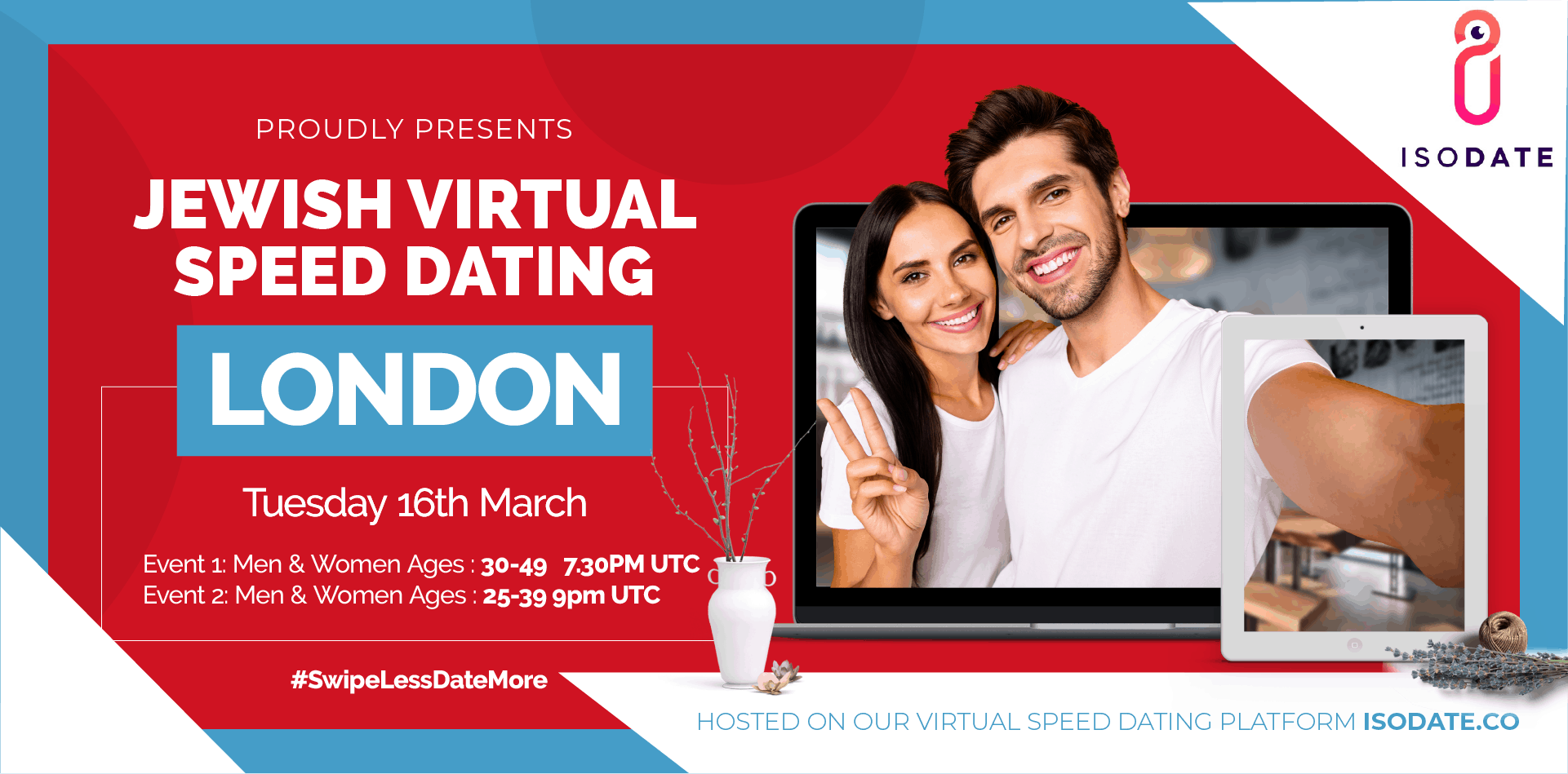 Isodate's London Jewish Virtual Speed Dating - Swipe Less, Date More