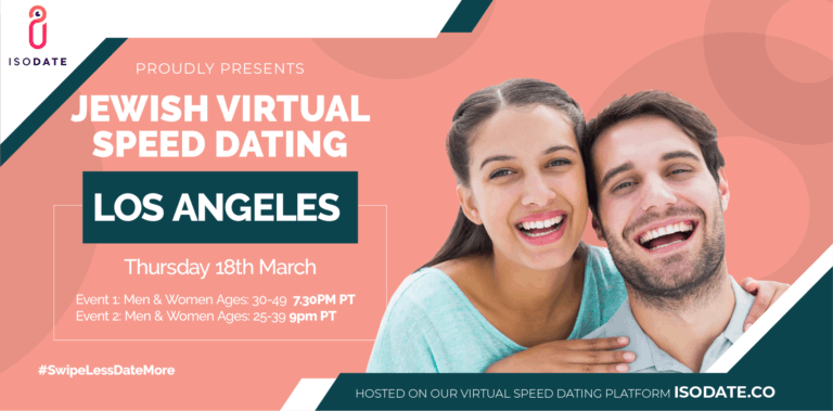Isodate's Los Angeles Jewish Virtual Speed Dating – Swipe Less, Date More