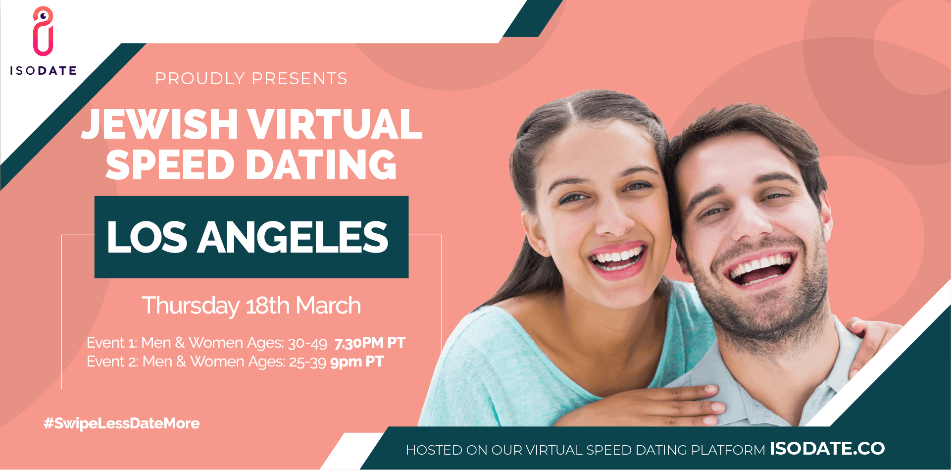 Isodate's Los Angeles Jewish Virtual Speed Dating - Swipe Less, Date More
