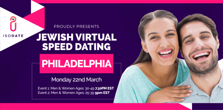 Isodate's Philadelphia Jewish Virtual Speed Dating – Swipe Less, Date More