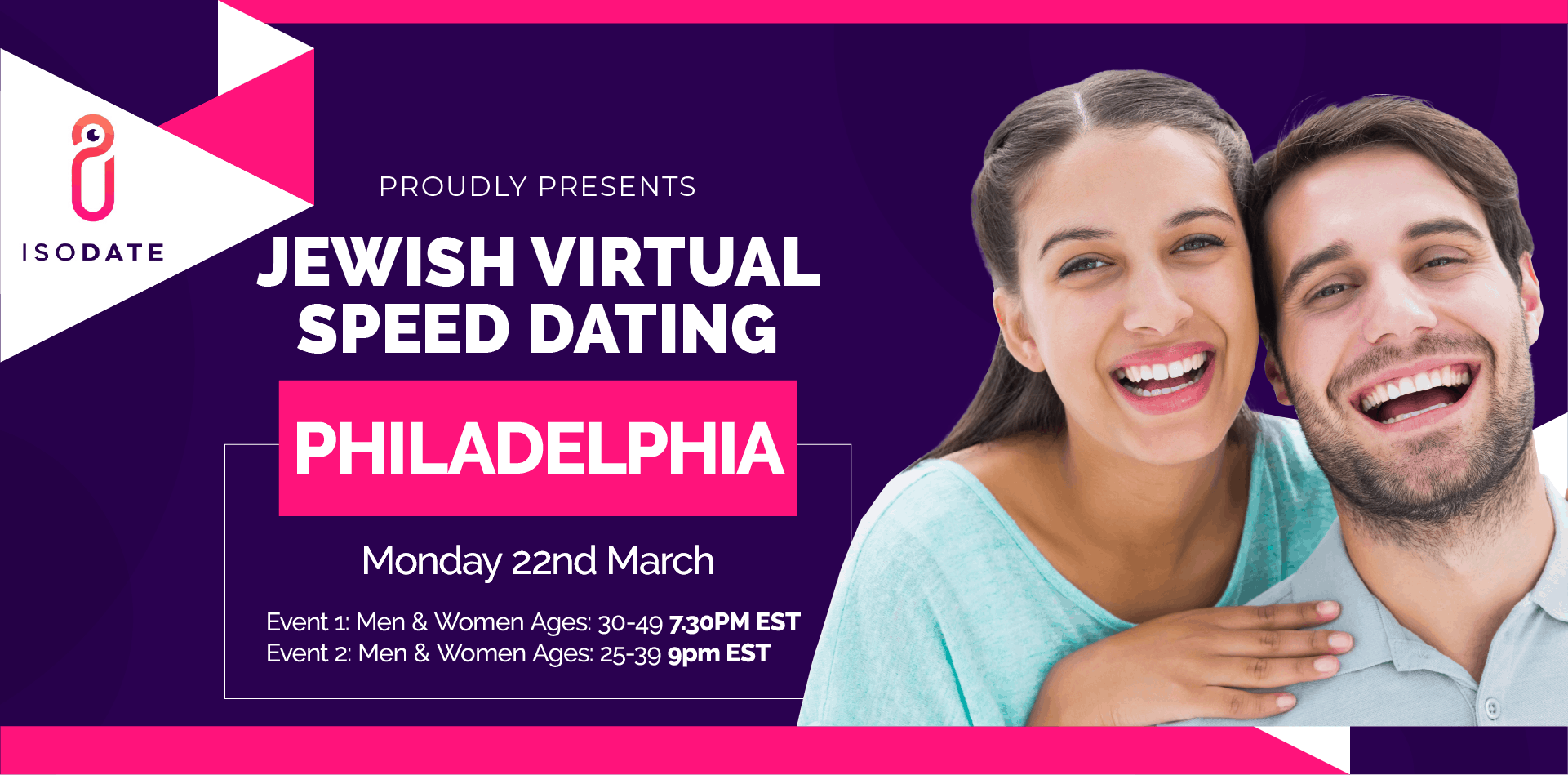 Isodate's Philadelphia Jewish Virtual Speed Dating - Swipe Less, Date More