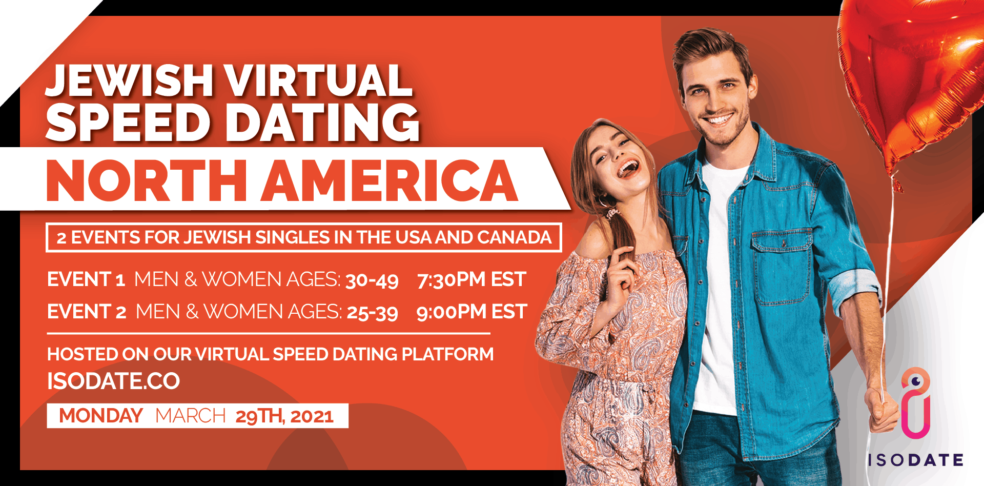 Isodate's North America Jewish Virtual Speed Dating