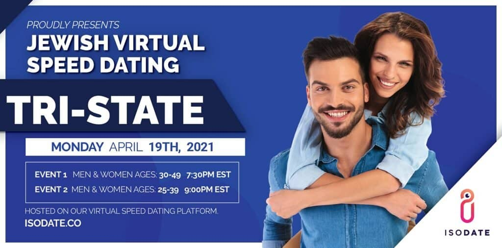 Isodate's Tri State Jewish Virtual Speed Dating