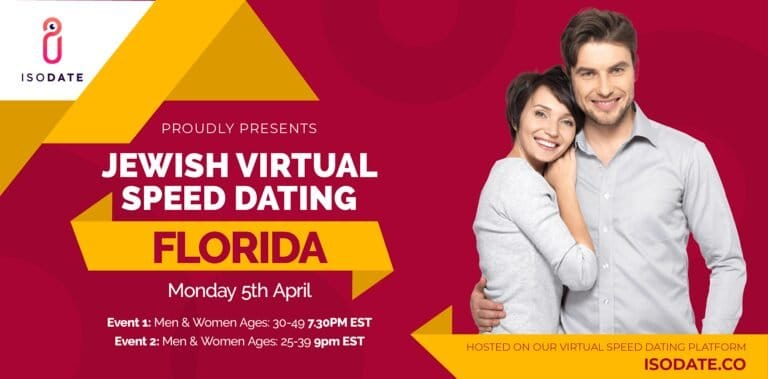 Isodate's Florida Jewish Virtual Speed Dating – Swipe Less, Date More