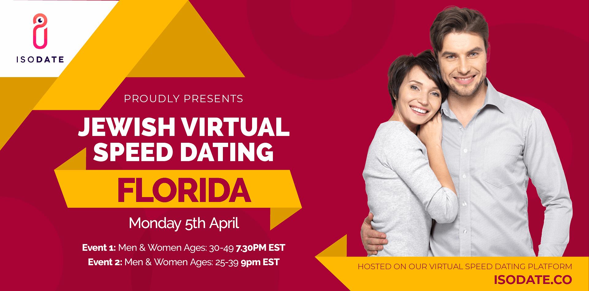 Isodate's Florida Jewish Virtual Speed Dating - Swipe Less, Date More
