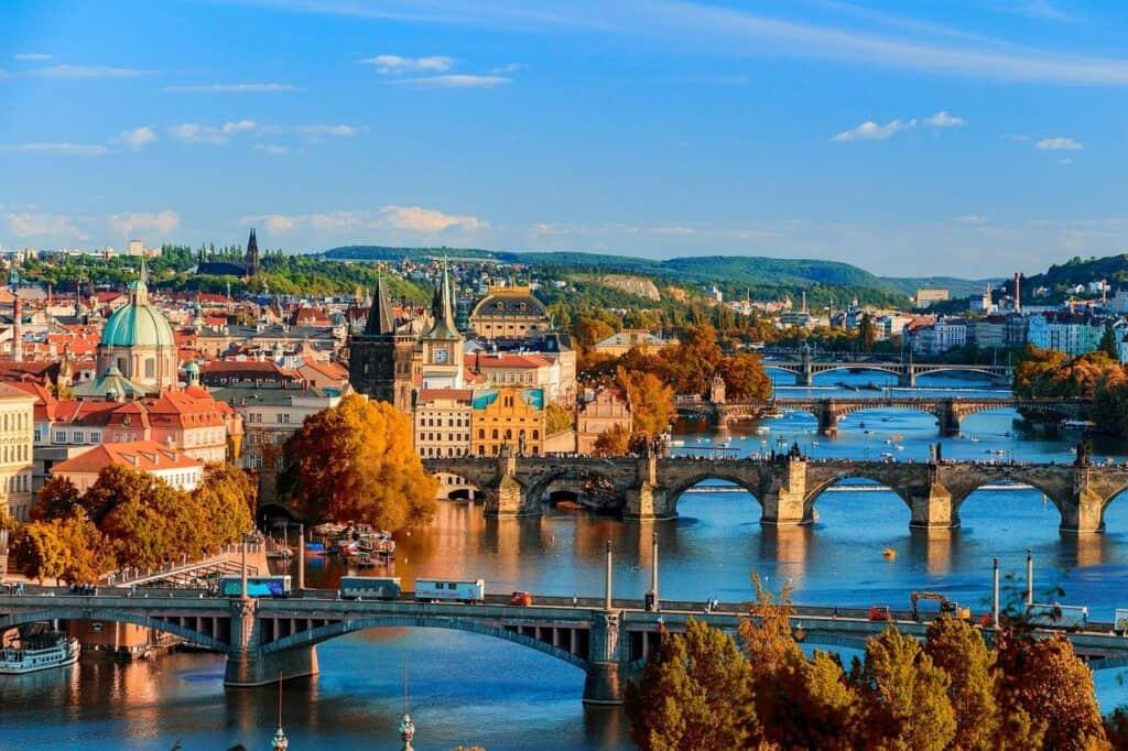 bridges, prague, czechia
