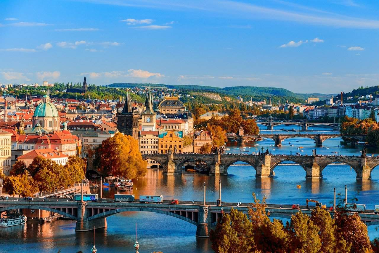 bridges, prague, czechia
