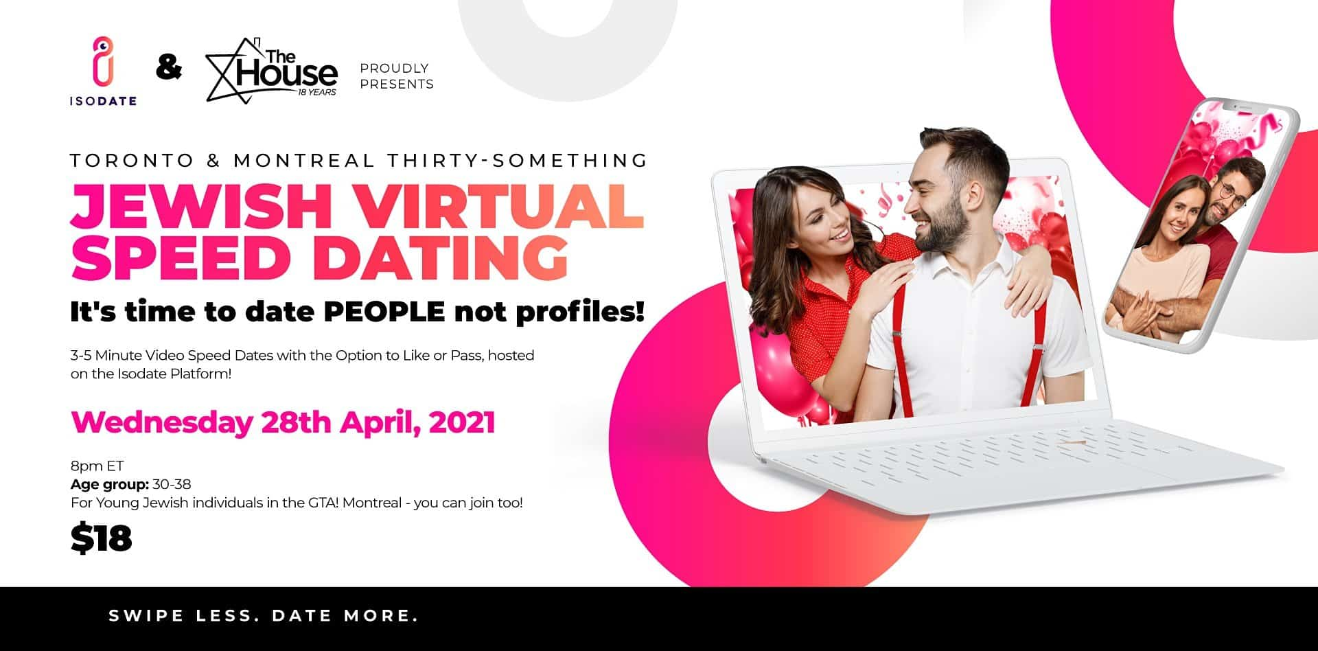 Isodate & The House present: Thirty Somethings Jewish Virtual Speed Dating