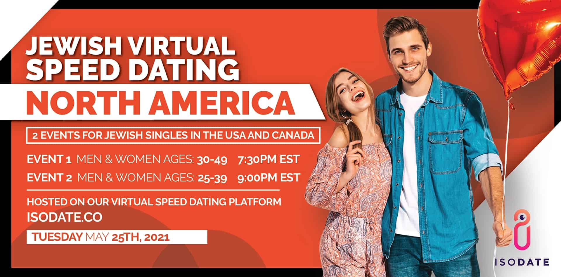 Isodate's North American Jewish Virtual Speed Dating