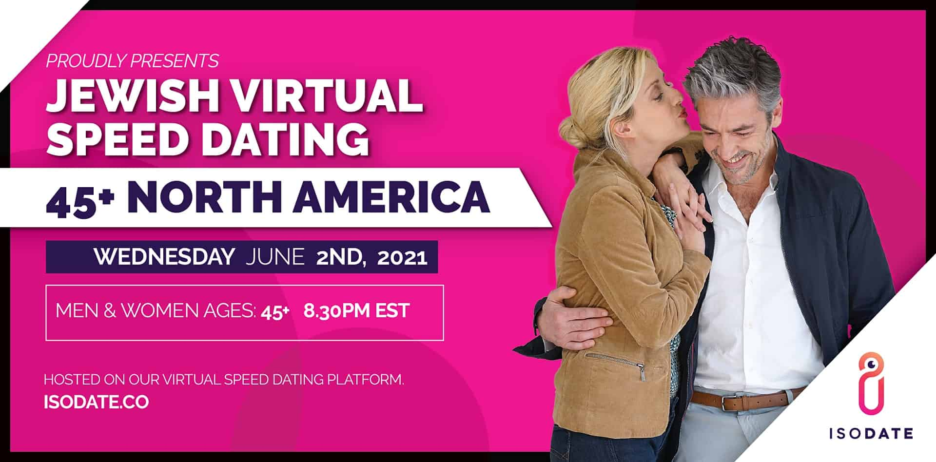 Isodate's 45+ Jewish Virtual Speed Dating