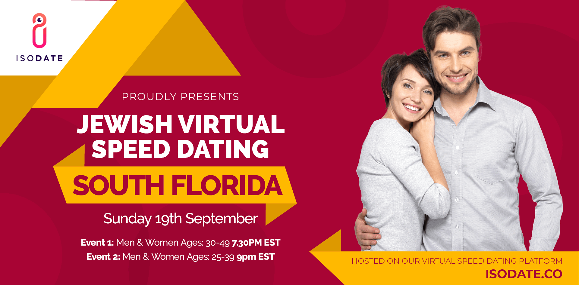 Isodate's South Florida Jewish Virtual Speed Dating - Swipe Less, Date More