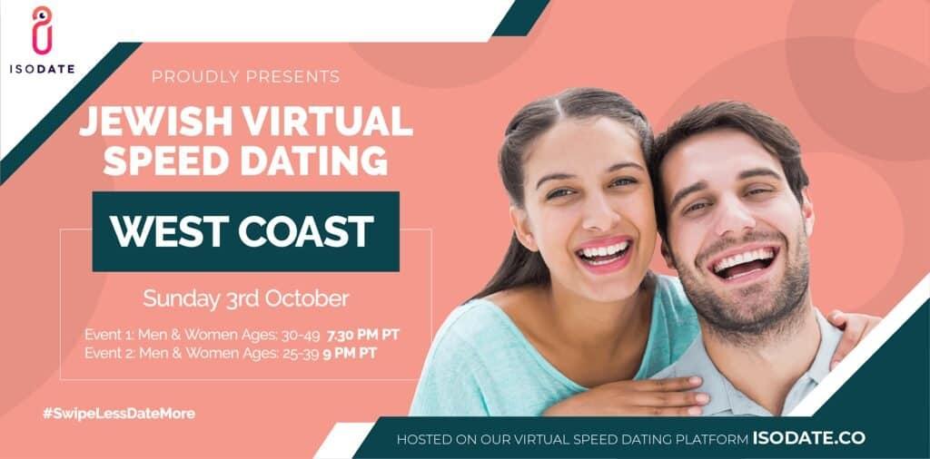 Isodate's West Coast Jewish Virtual Speed Dating